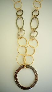 Circle Necklace with Large Pendant